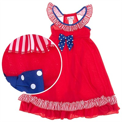Laura Dare Stars and Stripes Raceback Nightgown for Girls