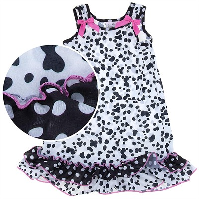 Laura Dare Dalmatian Print Nightgown for Toddler Girls