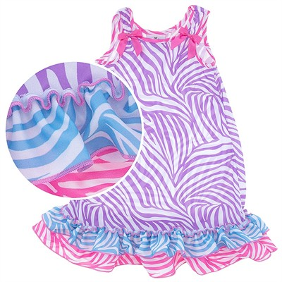 Laura Dare Zebra Coral Nightgown for Toddler Girls