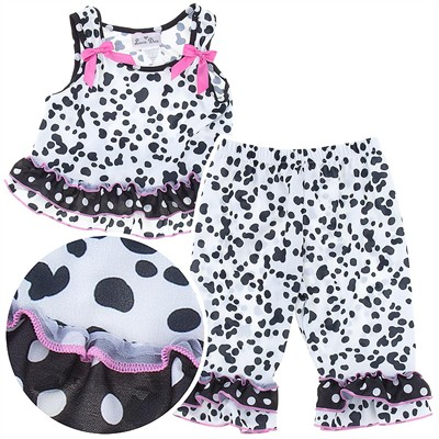 Laura Dare Dalmatian Print Toddler Pajamas for Girls