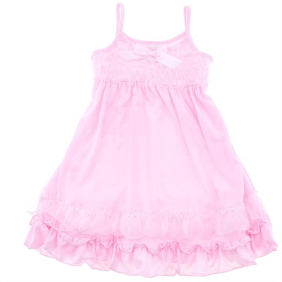 Laura Dare Pink Vintage Flair Strappy Nightgown for Girls