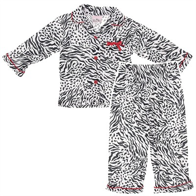 Laura Dare Zebra Coat-Style Pajamas for Toddlers and Girls