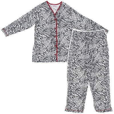 Laura Dare Zebra Coat-Style Pajamas for Moms