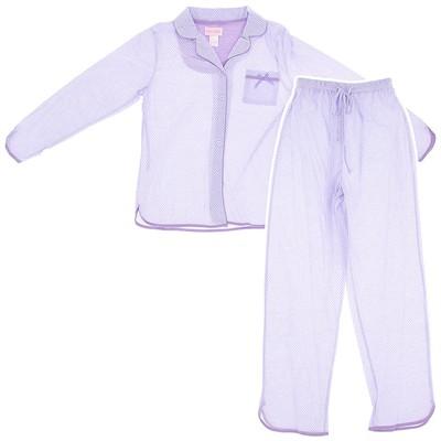 Lavender Polka Dot Pajamas for Women
