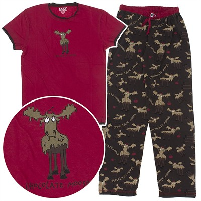Lazy One Chocolate Moose Cotton Pajamas for Women