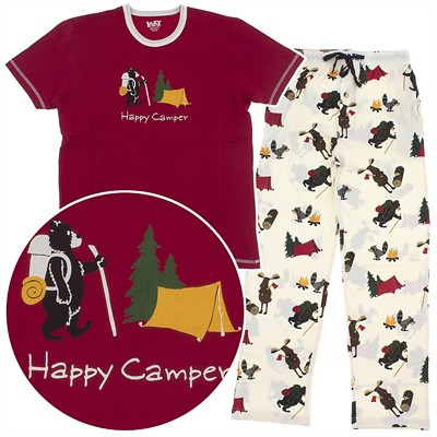 Lazy One Happy Camper Cotton Unisex Pajamas