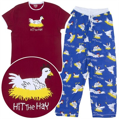 Lazy One Hit the Hay Cotton Pajamas for Women