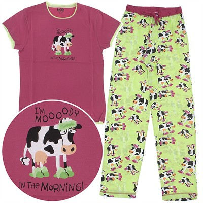 Lazy One Mooody in the Morning Cotton Pajamas for Women