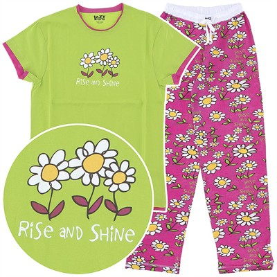 Lazy One Rise and Shine Cotton Pajamas for Women