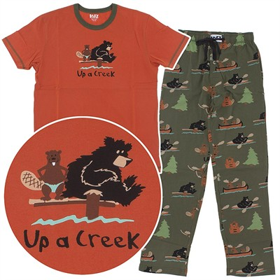 Lazy One Up a Creek Cotton Unisex Pajamas