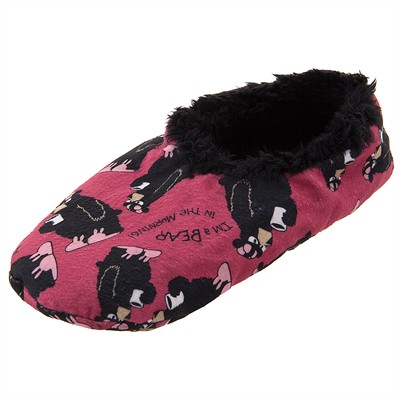 Lazy One I'm a Bear in the Morning Fuzzy Slippers for Women