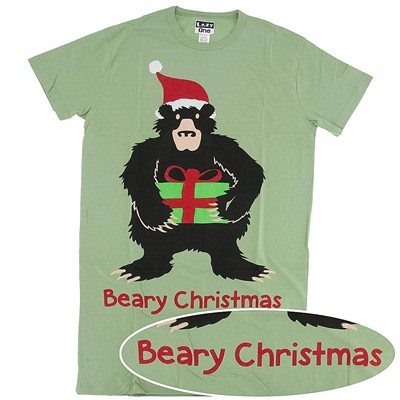 Lazy One Beary Christmas Nightshirt for Women