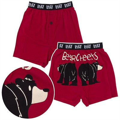 Lazy One Bear Cheeks Cotton Boxer Shorts for Men
