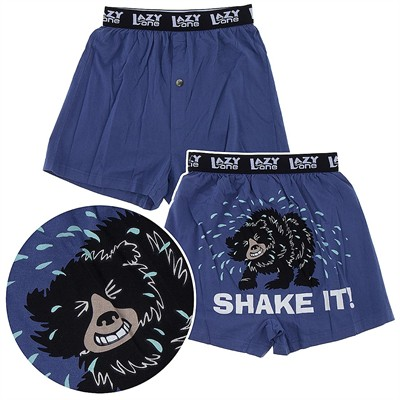 Lazy One Shake It Bear Cotton Boxer Shorts for Men