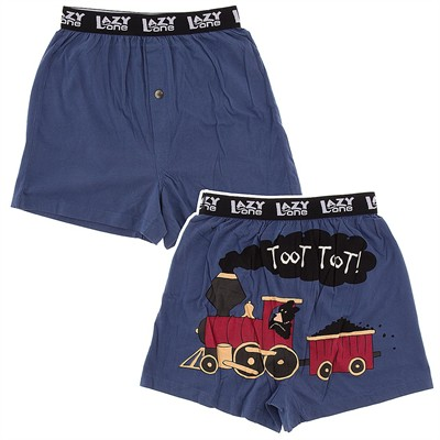 Lazy One Toot Toot Boxer Shorts for Men