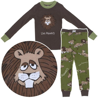 Lazy One Lion Around Cotton Pajamas for Toddlers and Boys