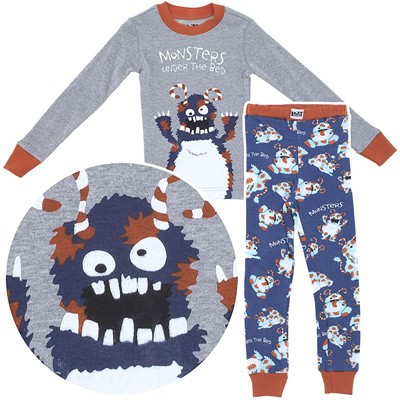Lazy One Monsters Unders the Bed Cotton Pajamas for Toddlers and Boys