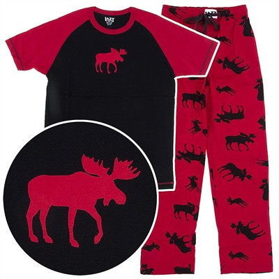 Lazy One Classic Moose Pajamas for Women