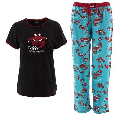Lazy One Crabby In The Morning Pajama Set for Women
