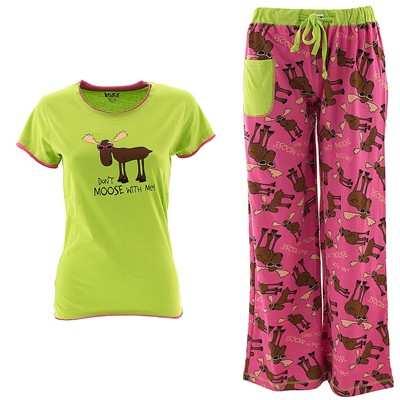 Lazy One Don't Moose With Me Pajama Set for Juniors