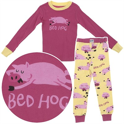 Lazy One Bed Hog Cotton Pajamas for Toddlers and Girls