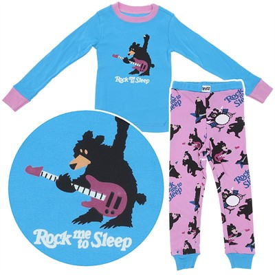 Lazy One Rock Me to Sleep Cotton Pajamas for Toddlers and Girls