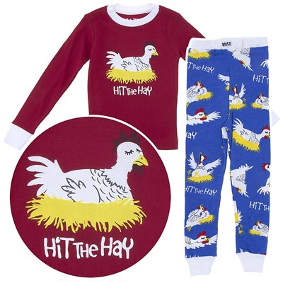 Lazy One Hit the Hay Cotton Pajamas for Toddlers and Kids