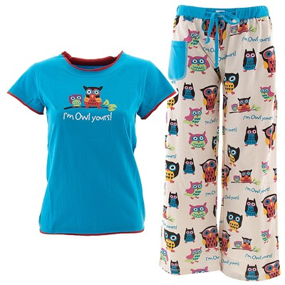 Lazy One I'm Owl Yours Pajama Set for Juniors