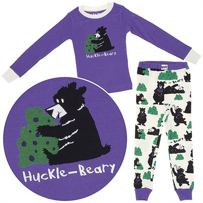 Lazy One Huckle-Berry Cotton Pajamas for Toddlers and Girls