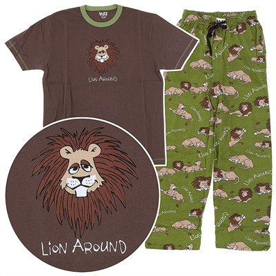 Lazy One Lion Around Unisex Pajamas