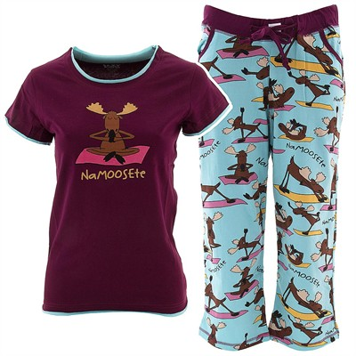 Lazy One Na-moose-te Capri Pajama Set for Juniors