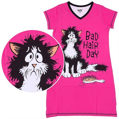 Lazy One Bad Hair Day Nightshirt for Women