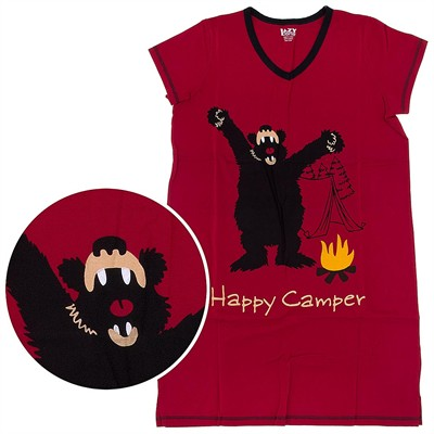 Lazy One Happy Camper Nightshirt for Women