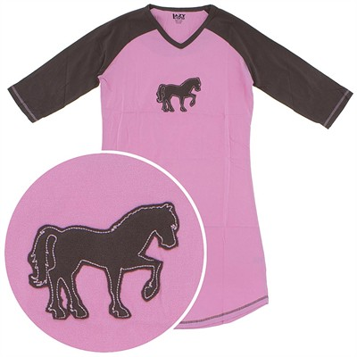 Lazy One Horse Cotton Nightshirt for Women