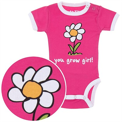 Lazy One You Grow Girl! Onesie for Baby Girls