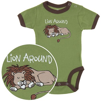 Lazy One Lion Around Onesie for Baby Boys