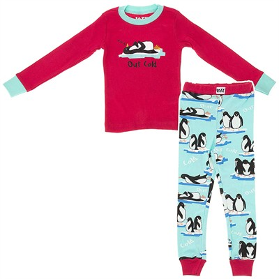 Lazy One Out Cold Cotton Pajamas for Girls