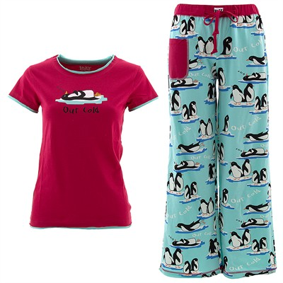 Lazy One Out Cold Pajama Set for Women