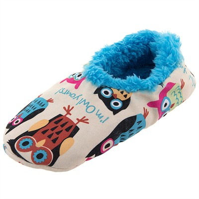 Lazy One Owl Yours Fuzzy Slippers for Women