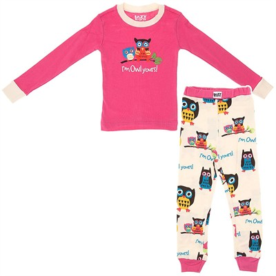 Lazy One I'm Owl Yours Cotton Pajamas for Girls