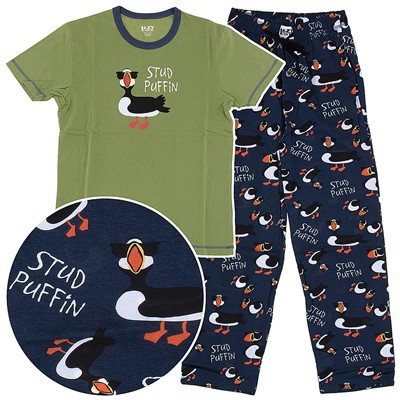 Lazy One Stud Puffin Unisex Cotton Pajamas