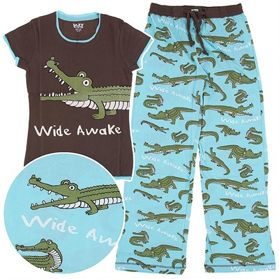 Lazy One Wide Awake Cotton Pajamas for Juniors