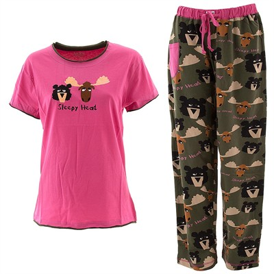 Lazy One Sleepy Head Pajama Set for Women