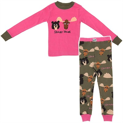 Lazy One Sleepy Heads Cotton Pajamas for Girls