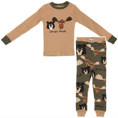 Lazy One Sleepy Head Cotton Pajamas for Boys