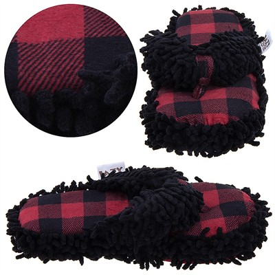 Lazy One Plaid Moose Thong Slippers for Women