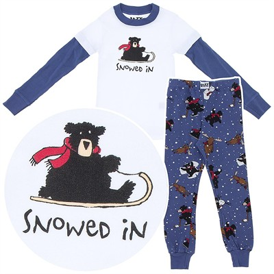 Lazy One Snowed In Cotton Pajamas for Toddlers and Boys