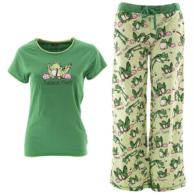Lazy One Toadally Tired Pajama Set for Juniors