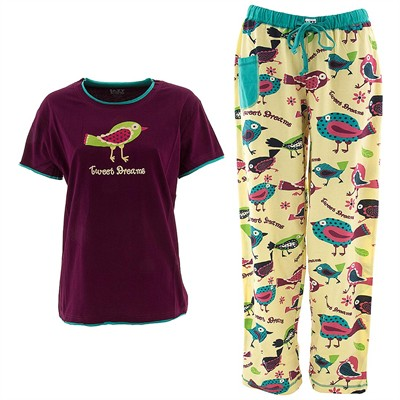 Lazy One Tweet Dreams Pajama Set for Women