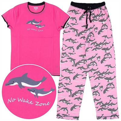 Lazy One No Wake Zone Cotton Pajamas for Women